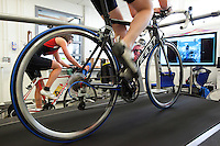 22 MAR 2012 - LOUGHBOROUGH, GBR - British triathlete Lucy Hall trains in the Performance Lab at Loughborough University .(PHOTO (C) 2012 NIGEL FARROW)