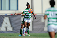 8 November 2015:  North Texas Forward Rachel Holden (16) attempts to control the ball in the first half as the University of North Texas Mean Green defeated the Marshall University Thundering Herd, 1-0, in the Conference USA championship game at University Park Stadium in Miami, Florida.