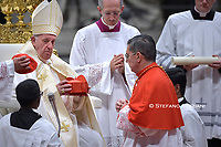 New Cardinal, Spanish prelate Miguel Angel Ayuso Guixot , during an Ordinary Public Consistory for the creation of new cardinals on October 5, 2019 in the Vatican. Pope Francis appoints 13 new cardinals at the 2019 Ordinary Public Consistory, choosing prelates whose lifelong careers reflect their commitment to serve the marginalized and local church communities, hailing from 11 different nations and representing multiple religious orders.