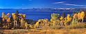 Lake Tahoe Landscape Fall Colors Panorama