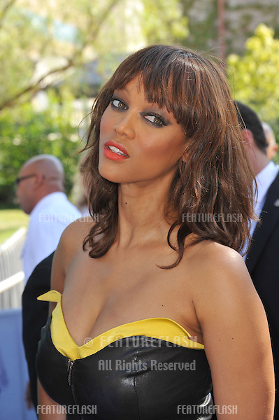 Tyra Banks arrives at the 2011 Teen Choice Awards at the Gibson Amphitheatre, Universal Studios, Hollywood..August 7, 2011  Los Angeles, CA.Picture: Paul Smith / Featureflash