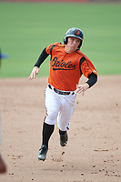 GCL Orioles third baseman Willy Yahn (2) runs the bases during a game against the GCL Rays on July 21, 2017 at Ed Smith Stadium in Sarasota, Florida.  GCL Orioles defeated the GCL Rays 9-0.  (Mike Janes/Four Seam Images)