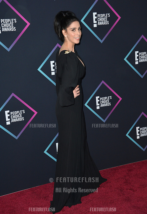 LOS ANGELES, CA. November 11, 2018: Sarah Silverman at the E! People's Choice Awards 2018 at Barker Hangar, Santa Monica Airport.<br /> Picture: Paul Smith/Featureflash