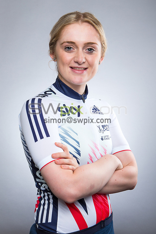 Picture by Alex Whitehead/SWpix.com - 14/08/2015 - Track Cycling - Great Britain Cycling Team Portraits - Derby Arena, Derby, England - Great Britain's Emily Kay