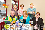 front l-r Dan Lyons, Mary O'Leary, Maureen Walsh, Back l-r  Joan Griffin, Tes Fitzgerald and May Griffin at the Hospice Coffee Morning Castleisland on Thursday