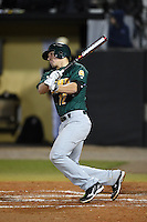Siena Saints infielder Justin Esquerra (12) at bat during the opening game of the season against the UCF Knights on February 13, 2015 at Jay Bergman Field in Orlando, Florida.  UCF defeated Siena 4-1.  (Mike Janes/Four Seam Images)