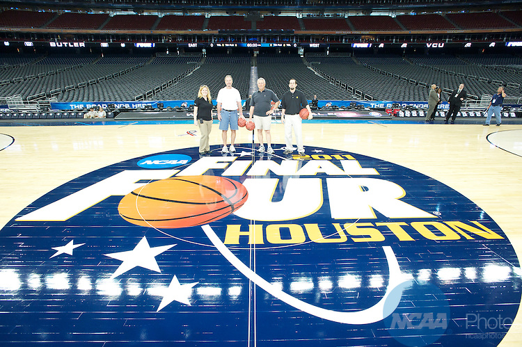 01 APR 2011: Corporate Champions and Partners VIP Tours during the 2011 NCAA Men's Division I Basketball Final Four at Reliant Stadium in Houston, TX. ©Brett Wilhelm/NCAA Photos