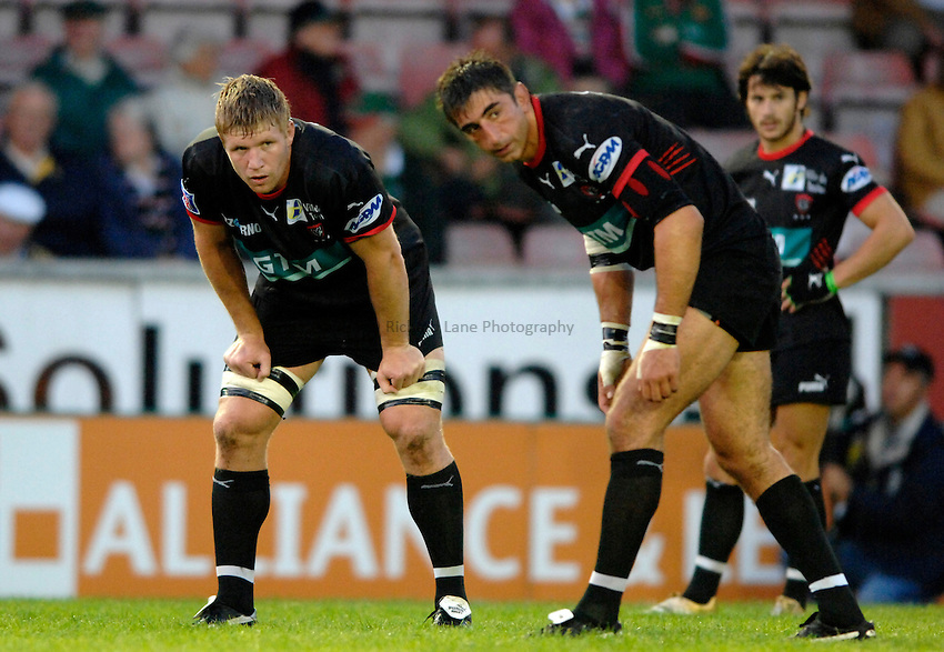 Photo: Richard Lane..Leicester Tigers v Toulon. Pre Season Friendly. 18/08/2006. .Toulon's Gregory Bernard (lt) looks on.
