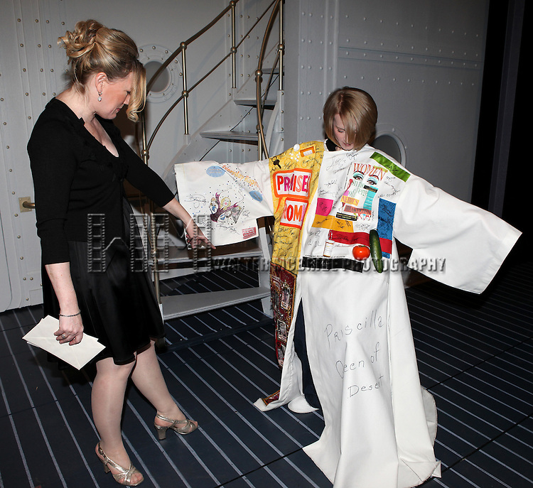 Joyce Chittick & Kathleen Marshall.attending the Opening Night Performance Gypsy Robe Ceremony for Recipient Joyce Chittick for The Roundabout Theatre Company's Broadway Production of 'Anything Goes'  in New York City.