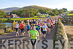 Dingle Marathon runners crossing Miltown Bridge on Saturday morning