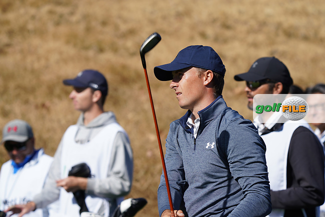 Jordan Spieth (USA) during the Pro-Am ahead of the The Genesis Invitational, Riviera Country Club, Pacific Palisades, Los Angeles, USA. 11/02/2020<br /> Picture: Golffile | Phil Inglis<br /> <br /> <br /> All photo usage must carry mandatory copyright credit (© Golffile | Phil Inglis)