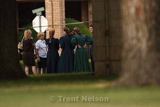 Eldorado - at the Schleicher County Courthouse Wednesday, June 25, 2008, where a grand jury met to hear evidence of possible crimes involving FLDS church members from the YFZ ranch.