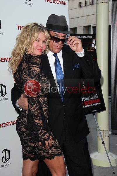 "Katarzyna Wolejnio, Robert Davi<br /> at ""The Iceman"" Red Carpet, Arclight Theater, Hollywood, CA 04-22-13<br /> David Edwards/DailyCeleb.Com 818-249-4998"