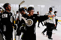 September 15, 2017: Boston Bruins center Frank Vatrano (72) watches teammates skate during the Boston Bruins training camp held at Warrior Ice Arena in Brighton, Massachusetts. Eric Canha/CSM