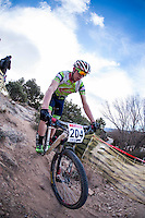 Chelva, SPAIN - MARCH 6: Calixto Sanchez during Spanish Open BTT XCO on March 6, 2016 in Chelva, Spain