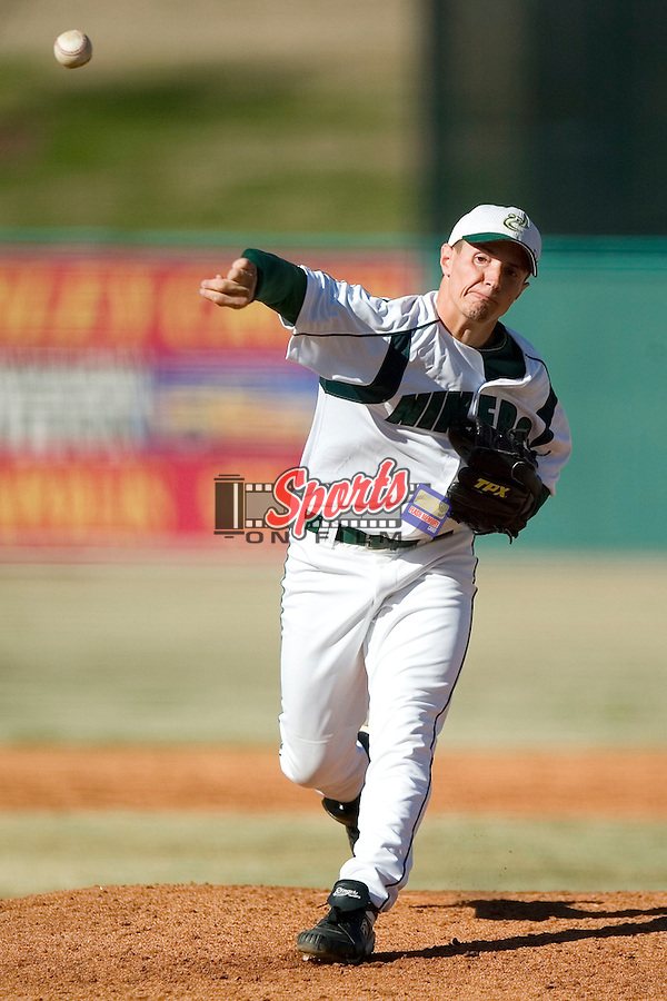 Charlotte starting pitcher Adam Mills in action versus James Madison at Fieldcrest Cannon Stadium in Kannapolis, NC, Friday, March 2, 2007.  The Charlotte 49'ers defeated the James Madison Dukes 16-7.