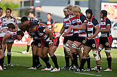 The Steelers forward pack ready themselves for a scrum. Air New Zealand Cup rugby game between Counties Manukau Steelers & North Harbour, played at Mt Smart Stadium on Saturday 4th of  October 2008. After being tied up 14 all at halftime North Harbour went on to win 57 - 28.