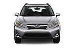 Car photography straight front view of a 2017 Subaru Crosstrek 2.0i Premium CVT 5 Door SUV Front View