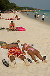Tourists sunbathing on Kho Samet