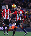 17.01.2016 Camp Nou, Barcelona, Spain. La Liga day 20 march between FC Barcelona and Athletic Club. San Jose (F) and Sergio (R) figth for the ball