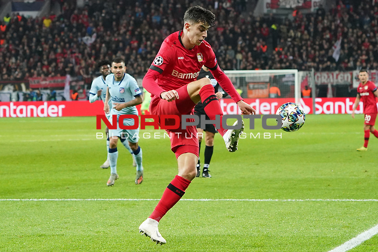 06.11.2019, BayArena, Leverkusen, Championsleague, Vorrunde, 4. Spieltag, GER, UEFA  CL, Bayer 04 Leverkusen (GER) vs. Atletiko Madrid (ESP),<br />  <br /> UEFA regulations prohibit any use of photographs as image sequences and/or quasi-video<br /> <br /> im Bild / picture shows: <br /> Kai Havertz (Leverkusen #29),  Einzelaktion <br /> <br /> Foto © nordphoto / Meuter<br /> <br /> <br /> <br /> Foto © nordphoto / Meuter