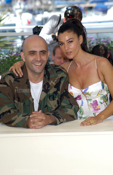 Actress MONICA BELLUCCI & director GASPER NOE at the Cannes Film Festival to promote their new movie Irreversible..24MAY2002.  © Paul Smith / Featureflash