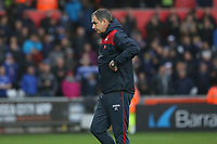 Swansea City manager Paul Clement after the final whistle of the Premier League match between Swansea City and Leicester City at The Liberty Stadium, Swansea, Wales, UK. Saturday 21 October 2017