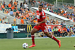 09 July 2014: Dallas' Tesho Akindele. The Carolina RailHawks of the North American Soccer League played FC Dallas of Major League Soccer at WakeMed Stadium in Cary, North Carolina in the quarterfinals of the 2014 Lamar Hunt U.S. Open Cup soccer tournament. FC Dallas won the game 5-2.