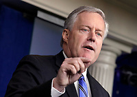 Mark Meadows, Assistant to the President and Chief of Staff speaks during a press briefing at the White House in Washington on July 31, 2020. <br /> Credit: Yuri Gripas / Pool via CNP /MediaPunch