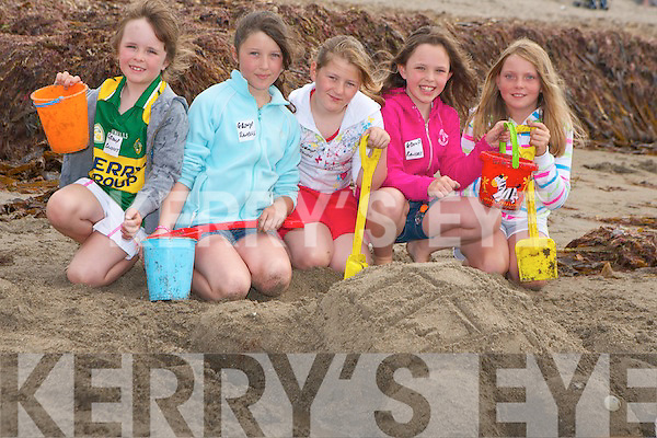 SAND TURTLE: Competing the great sand castle competition at the Ballyheigue Summer Festival on Sunday l-r: Ciara Randles, Killarney, Jennifier and Marie Ford, Clare, Niamh Randles, Killarney and Helena Ryan, Cork.   Copyright Kerry's Eye 2008