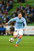 3rd November 2017, Melbourne Rectangular Stadium, Melbourne, Australia; A-League football, Melbourne City FC versus Sydney FC; Ross McCormack of Melbourne City FC chases after the ball