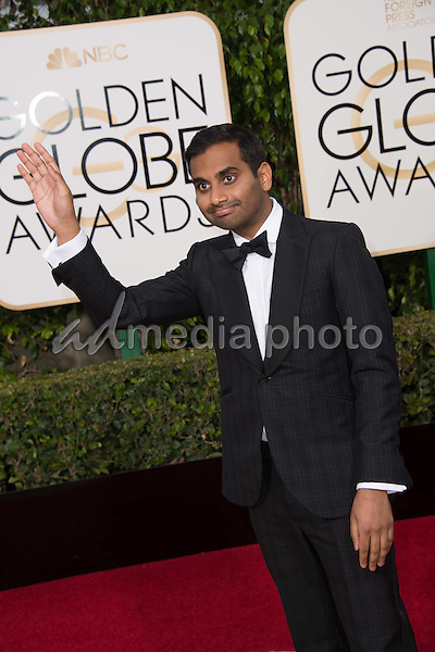 "Nominated for BEST PERFORMANCE BY AN ACTOR IN A TELEVISION SERIES – COMEDY OR MUSICAL for his role in ""Master of None,"" actor Aziz Ansari attends the 73rd Annual Golden Globes Awards at the Beverly Hilton in Beverly Hills, CA on Sunday, January 10, 2016. Photo Credit: HFPA/AdMedia"