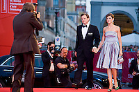 Actor Colin Firth and Livia Giuggioli attend 'Tinker, Tailor, Soldier, Spy' Premiere at the 68th Venice Film Festival