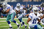 Dallas Cowboys running back Lance Dunbar (25) in action during the pre-season game between the Baltimore Ravens and the Dallas Cowboys at the AT & T stadium in Arlington, Texas. The Ravens lead Dallas 24 to 10 at half time.