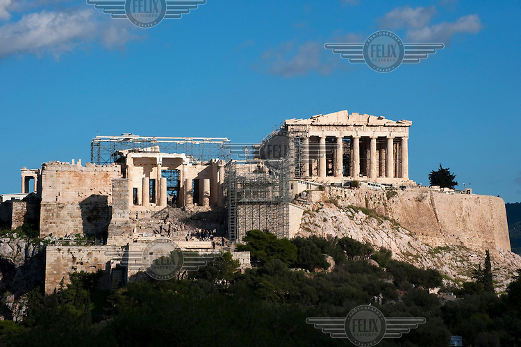 A view of the Acropolis in Athens.