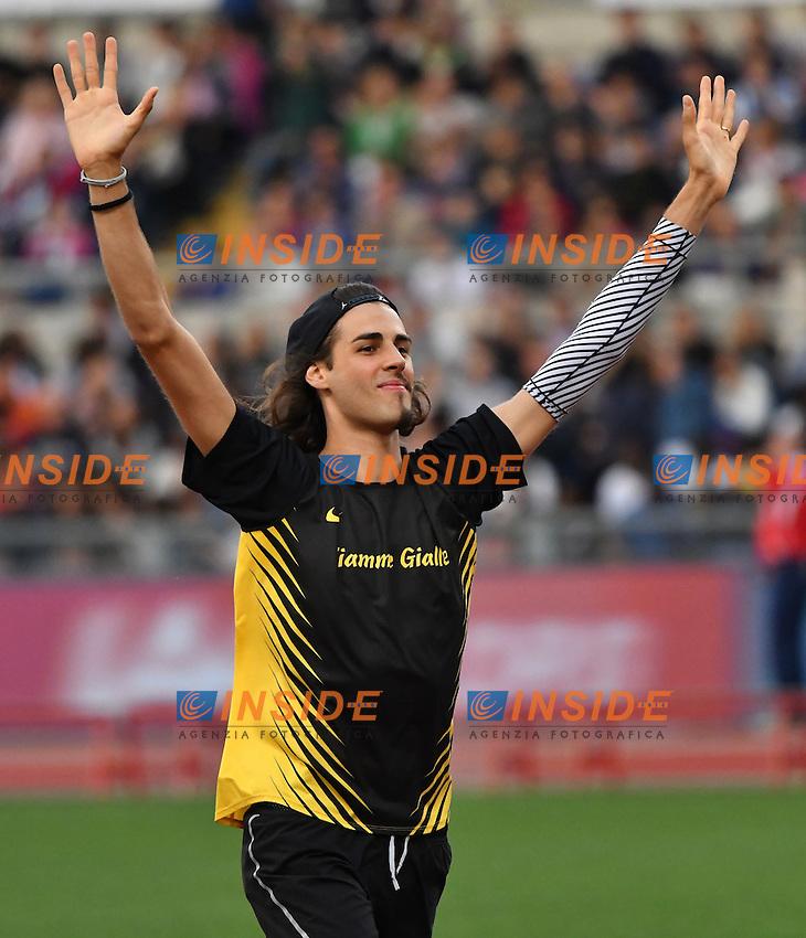 Gianmarco TAMBERI ITA High Jump <br /> Roma 02-06-2016 Stadio Olimpico <br /> IAAF Diamond League Golden Gala <br /> Atletica Leggera<br /> Foto Andrea Staccioli / Insidefoto
