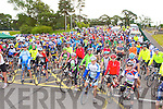 The cyclists line up at the start of Tour of Sliabh Luachra on Saturday