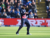 Jun 6th, The SSE SWALEC, Cardiff, Wales; ICC Champions Trophy; England versus New Zealand;  Joe Root of England celebrates catching Ross Taylor of New Zealand