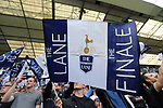 Tottenham's fans hold up their flags during the Premier League match at White Hart Lane Stadium, London. Picture date: May 14th, 2017. Pic credit should read: David Klein/Sportimage