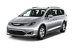 2017 Chrysler Pacifica Touring-L-Plus 5 Door Minivan Angular Front stock photos of front three quarter view