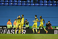Tom Naylor of Burton Albion celebrates scoring their second goal during the Sky Bet Championship match between Reading and Burton Albion at the Madejski Stadium, Reading, England on 23 December 2017. Photo by Paul Paxford.