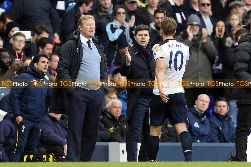 Tottenham Hotspur manager Mauricio Pochettino congratulates Harry Kane of Tottenham Hotspur as he is substituted during Tottenham Hotspur vs Everton, Premier League Football at White Hart Lane on 5th March 2017
