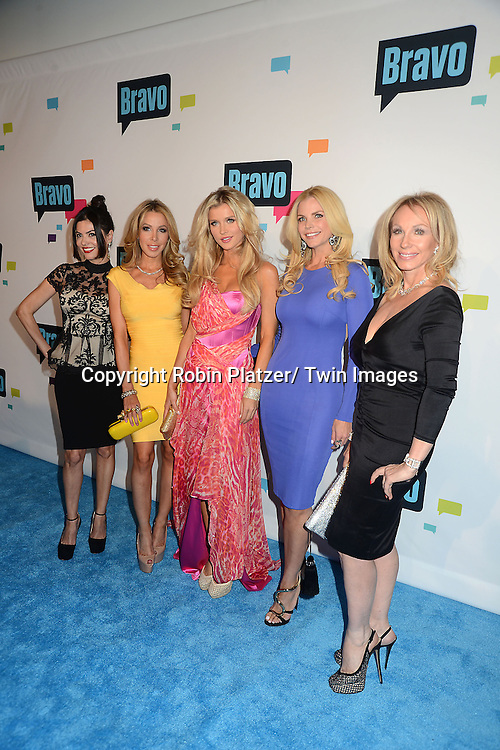 """cast of """"The Real Housewives of Miami"""" arrive at the Bravo 2013  Upfront on April 3, 2013 at Pillars 37 Studio in New York City."""