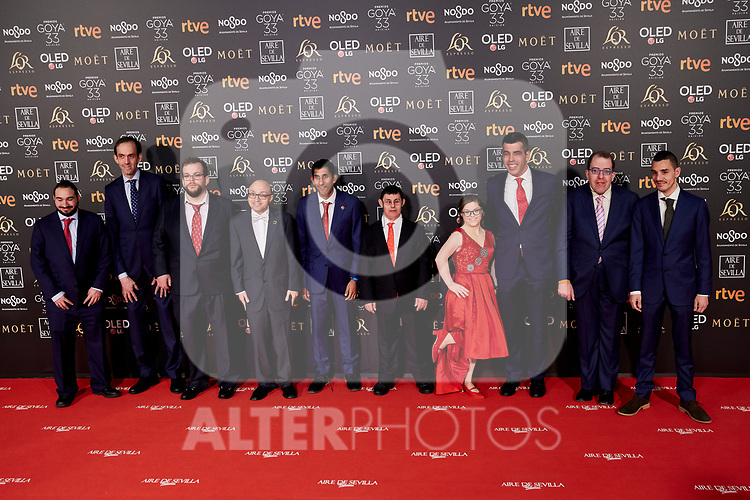 Campeones film cast attends to 33rd Goya Awards at Fibes - Conference and Exhibition  in Seville, Spain. February 02, 2019. (ALTERPHOTOS/A. Perez Meca)
