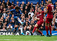 Willian of Chelsea during the Premier League match between Chelsea and Liverpool at Stamford Bridge, London, England on 22 September 2019. Photo by Liam McAvoy / PRiME Media Images.