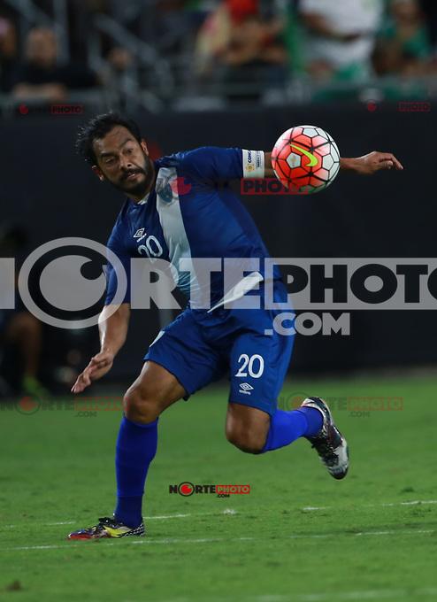 Carlos Ruiz de Guatemala   ,durante partido entre las selecciones de Mexico y Guatemala  de la Copa Oro CONCACAF 2015. Estadio de la Universidad de Arizona.<br /> Phoenix Arizona a 12 de Julio 2015.