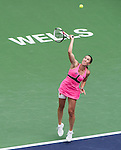Jelena Jankovic (SRB) during the final against Simona Halep (ROU) at the BNP Parisbas Open in Indian Wells, CA on March 22, 2015.