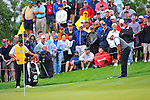 28 August 2009: Tiger Woods during the second round of The Barclays PGA Playoffs at Liberty National Golf Course in Jersey City, New Jersey.