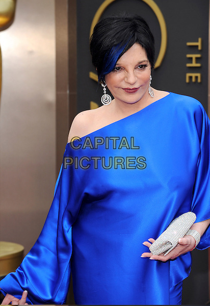 HOLLYWOOD, CA - MARCH 2: Liza Minnelli arriving to the 2014 Oscars at the Hollywood and Highland Center in Hollywood, California. March 2, 2014. <br /> CAP/MPI/COR<br /> &copy;Corredor99/ MediaPunch/Capital Pictures