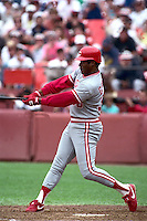 SAN FRANCISCO, CA - Ken Griffey of the Cincinnati Reds bats during a game against the San Francisco Giants at Candlestick Park in San Francisco, California in 1990. Photo by Brad Mangin